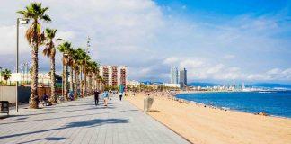 Belle plage Barcelone