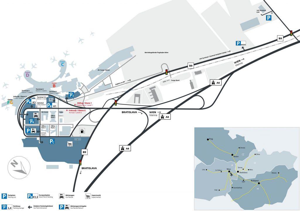 Plan de l'aéroport de Vienne