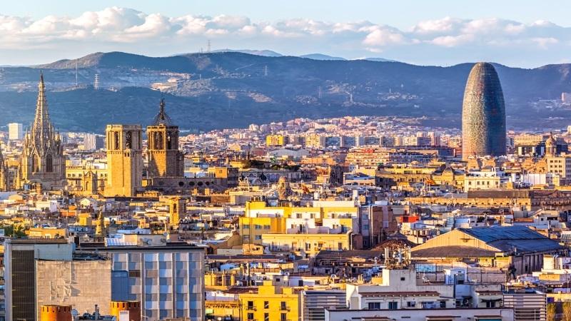 Ville de Barcelone en Espagne